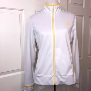 Adidas Jacket White with Yellow Detail